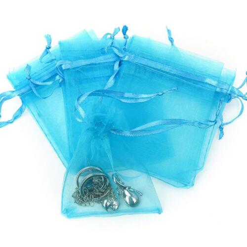 """24pk Turquoise Organza Baggies 3/"""" x 4/"""" Halloween Party Candy Bag Favors"""