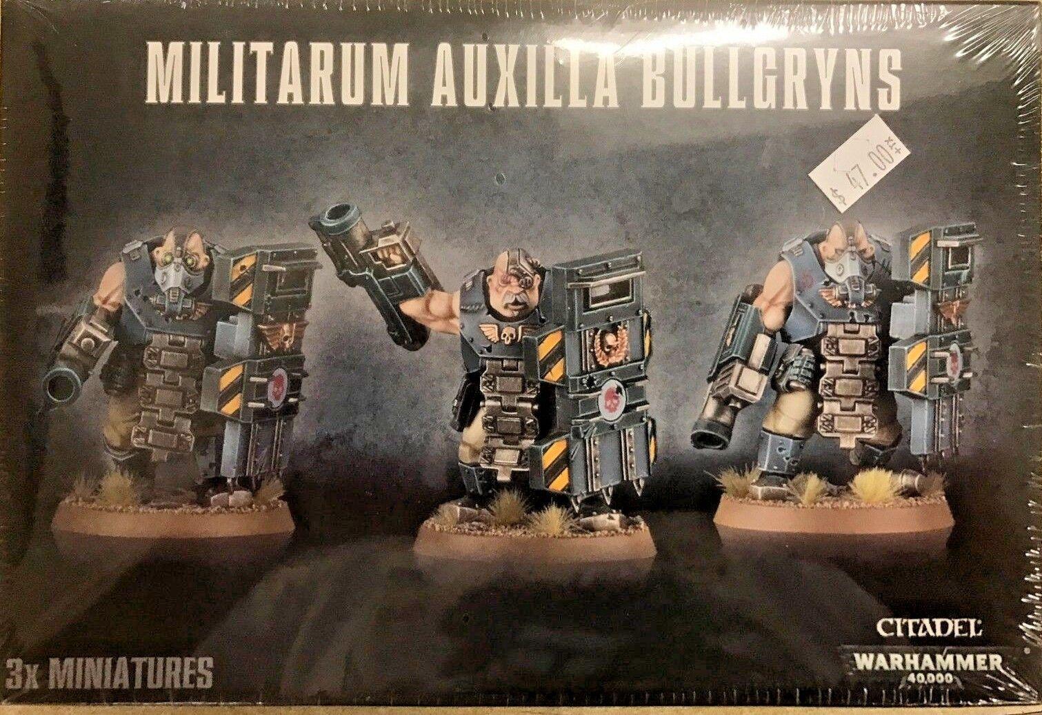 Warhammer 40K  ASTRA MILITARUM AUXILLA BULLGRYNS, 3 Ogryn w  Gauntlets& Mauls...