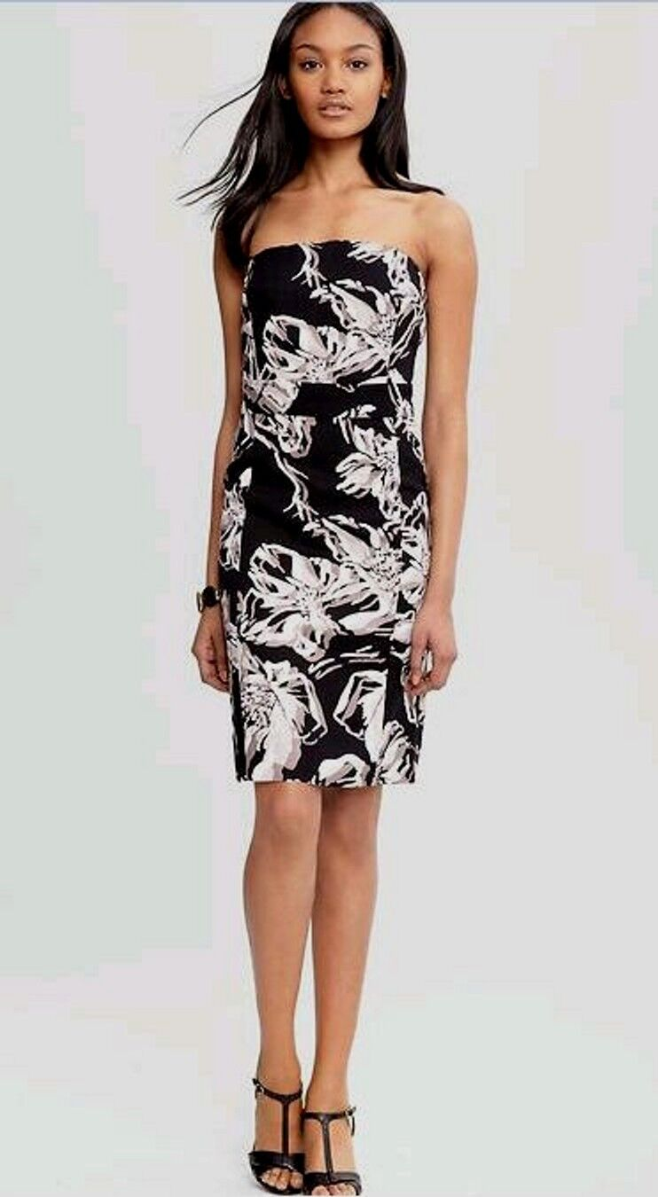 $130 NWT Banana Republic Abstract Floral Strapless Dress