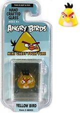 Angry Birds Mini Glass Sculpture Collectible - Yellow Bird, NIP, Mint!
