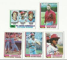 VINTAGE 1982 TOPPS BASEBALL CARDS – SAINT LOUIS CARDINALS - MLB