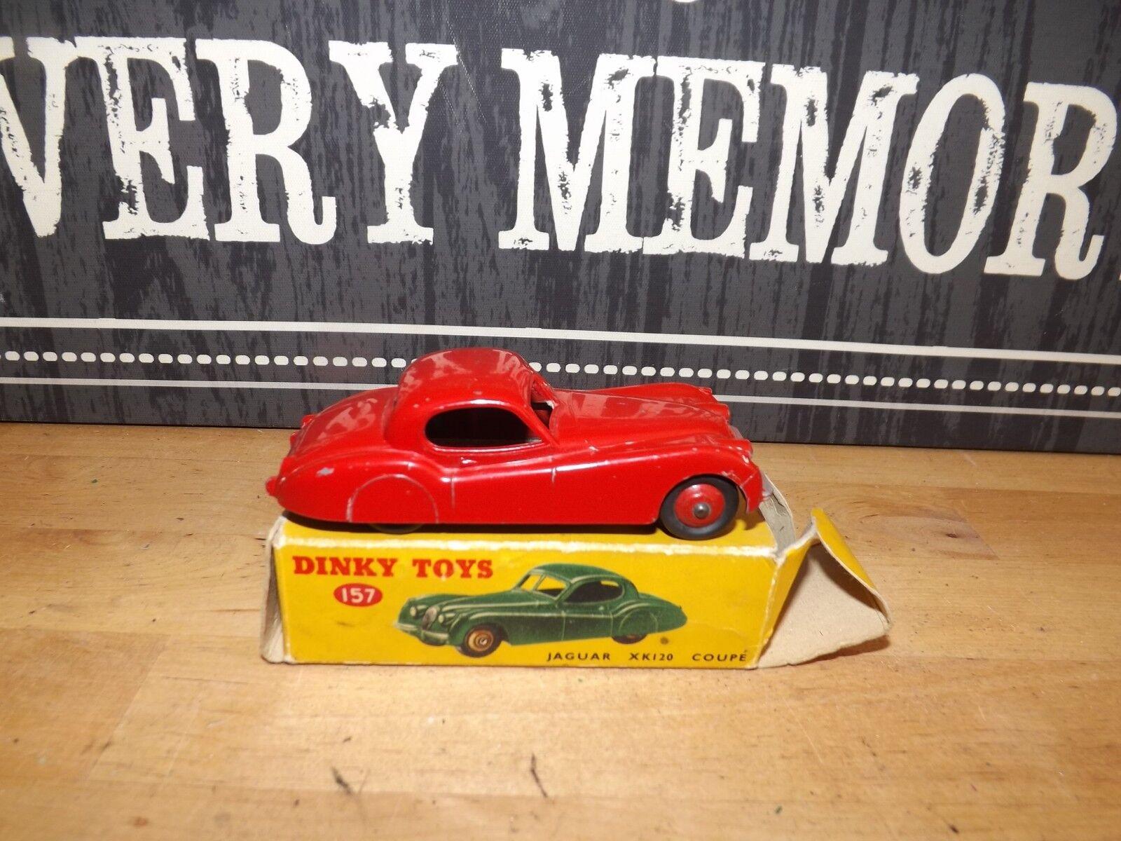 DINKY TOYS Nº 157 Rouge JAGUAR XK120 Voiture  de sport & boîte d'origine très bon  prix de gros