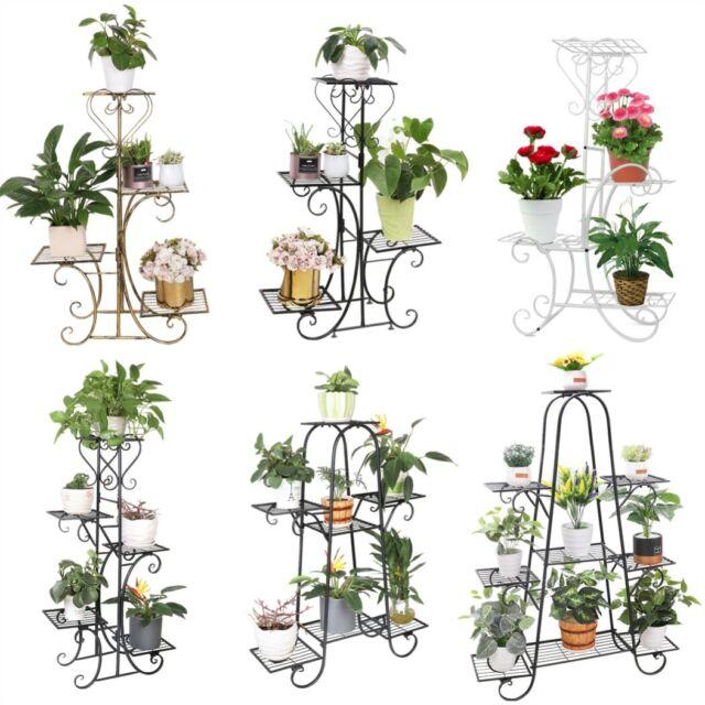 Pflanzenständer Blumentreppe Fahrradform Garten Blumenständer Pflanzregal Metall