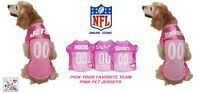 Nfl Officially Licensed Pet's Pink Jerseys - Assorted Teams & Sizes