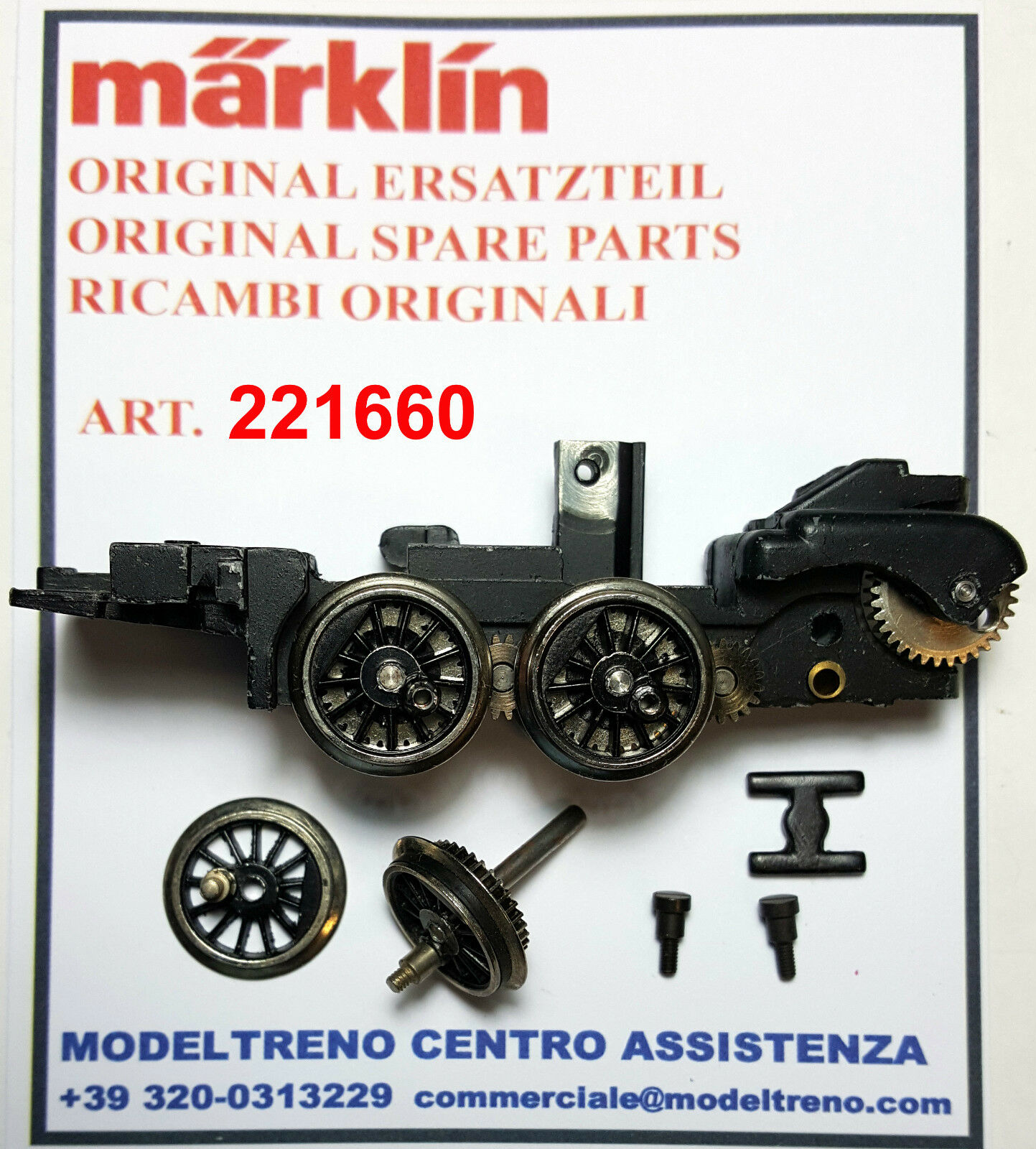 MARKLIN  22166 - 221660 TELAIO ANT.  VORDERES TREIBGESTELL  komplett  3045 3046