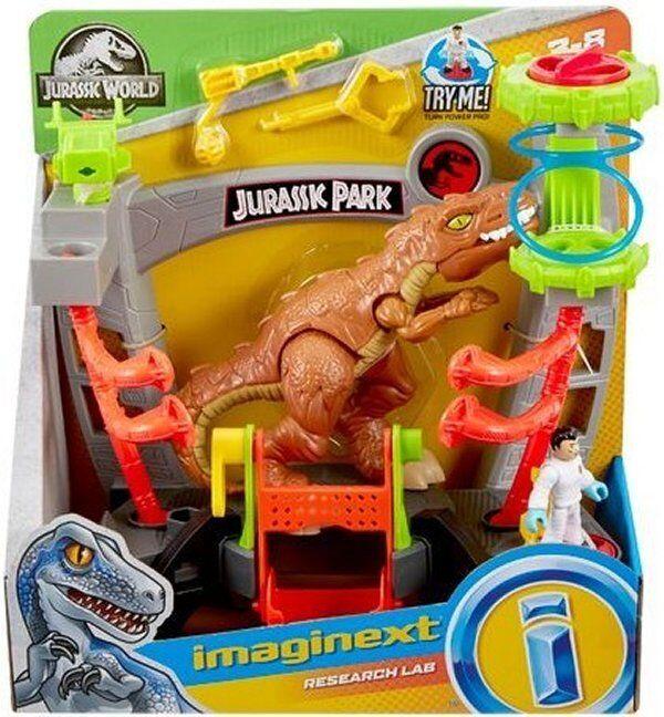 IMAGINEXT Jurassic World RESEARCH LAB T-REX PLAYSET JURASIC PARK  DINOSAUR DOCTOR  livraison gratuite et échanges.