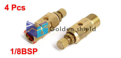 4Pcs 1//8BSP Adjustable Pneumatic Muffler Silencer Air Flow Control Noise Exhaust