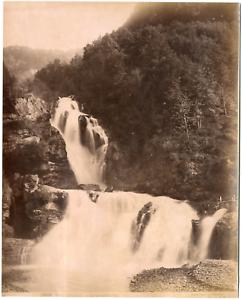 Suisse-Meyringen-Reivhenbachfall-Giorgio-Sommer-Vintage-albumen-print-Tira