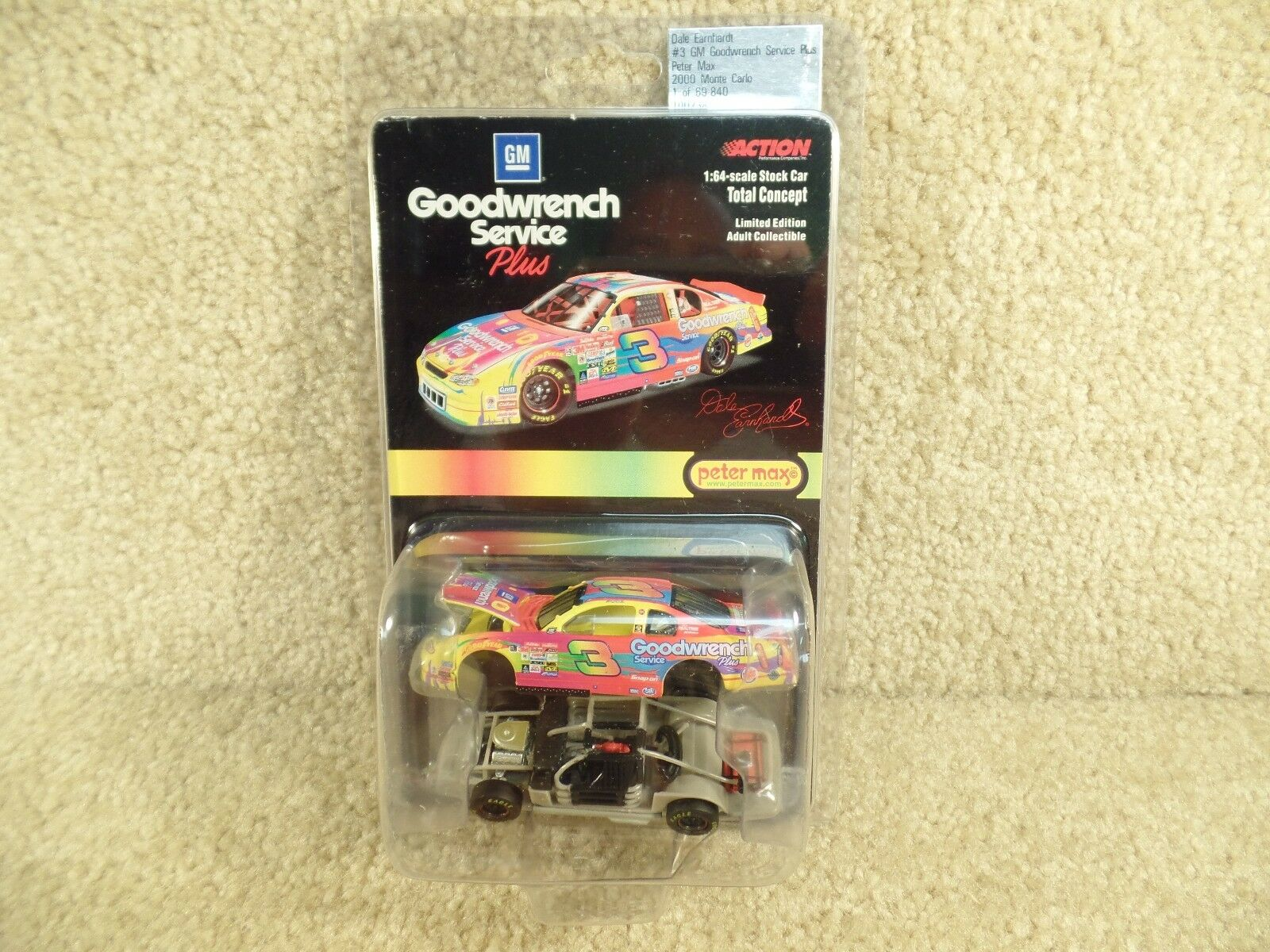 New 2000 Action 1 64 Scale Diecast NASCAR Dale Earnhardt Sr Peter Max Chevy a