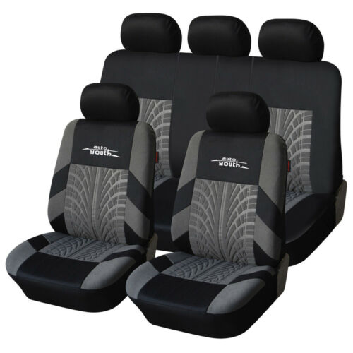 AUTOYOUT Brand Embroidery Car Seat Covers Set Universal Fit Most Cars Covers wi