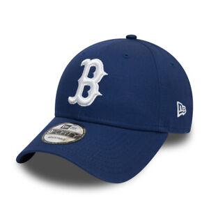 Boston-Red-Sox-Cap-MLB-Baseball-New-Era-9Forty-Cap-Kappe-weisses-Logo-Royalblau