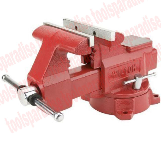 wilton large 6 1 2 swivel base bench vise anvil pipe clamp spinning