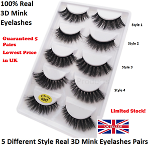 c68f150e662 5 Pairs Soft False Eyelashes Long Wispy Strip Lashes Make Up Real ...