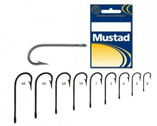 100 Mustad 3138DT Size 6//0 Saltwater Kirby Fish Hooks 3138DT-60