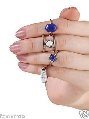 GirlZZ Fashion Blue Gemstone Four Ring Set  (SKU: 13107)