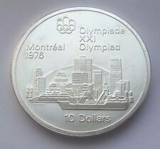 1973 CANADA SILVER $10 1976 MONTREAL OLYMPICS MONTREAL SKYLINE COIN