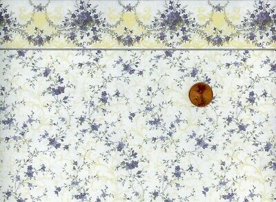 Dollhouse Wallpaper 3 Sheets of Mini Graphics Sonata Purple 203D23