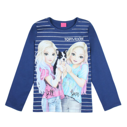 128 140 152 164 85031 blau Neu Topmodel June und Jill Langarmshirt Shirt Gr