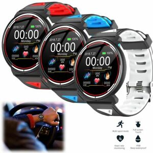 Runder Bildschirm Smartwatch Sport Pulsmesser Armband für Samsung Note 10 iPhone