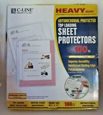 C Line Heavy Weight Top Loading Sheet Protectors 85x11 100pkg Clear 62033