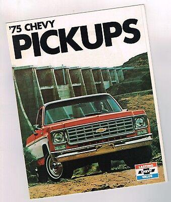 1975 Chevrolet Truck Brochures Colors//Accessories 2