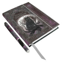 Witches Spell Book W/ Pen Embossed Cat Journal Wiccan Pagan Metaphysical