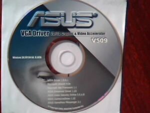 Details about Driver Support CD ASUS VGA Driver V509 2D/3D Graphic Video  Accelerator WDM