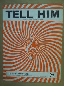 Song Sheet Tell Him Hello 1963 Bert Russell Belle Apparence
