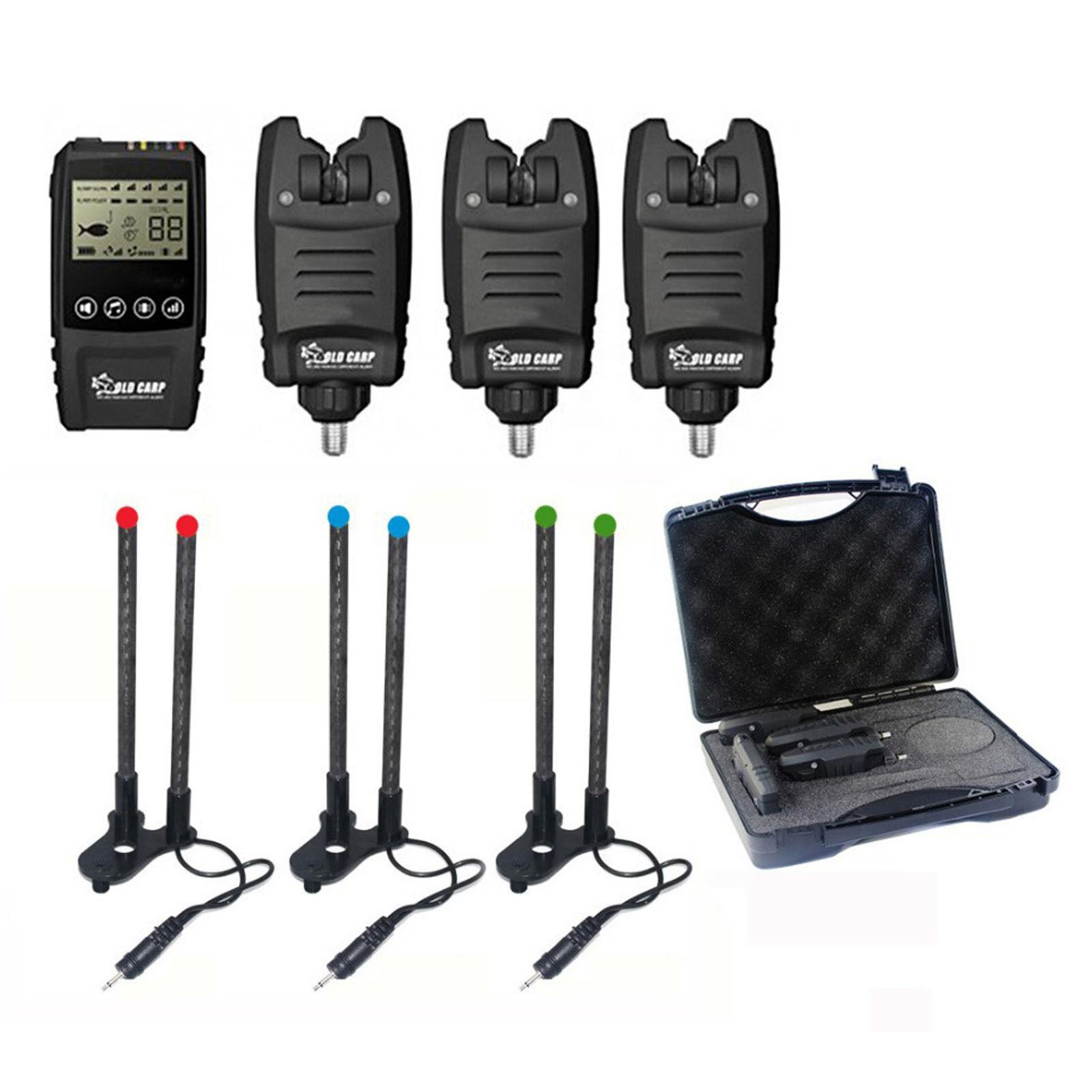 NEW Carp Fishing Galaxy BL Wireless Bite Alarm 1+3 Set Multi-LED