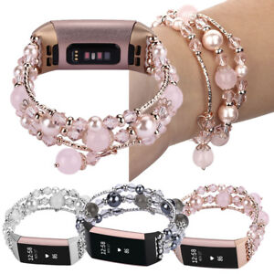 Fitbit-Charge-3-Bands-Women-039-s-Watch-Bracelet-Wrist-Strap-Replacement-Faux-Pearls