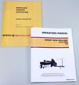 Details about NEW HOLLAND 320 SQUARE BALER HAYLINER OWNER OPERATOR PARTS  MANUAL CATALOG