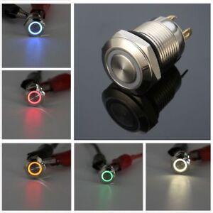 LED-ON-OF-Cierre-De-Aluminio-Del-Coche-Auto-bloqueo-Interruptor-De-Boton