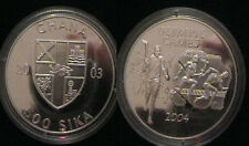 2003 Ghana Large Silver Proof 500 Sika- Olympic