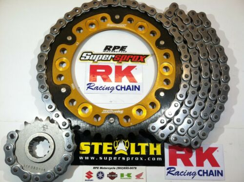 1//+1t Chain and Sprocket Kit /'14-17 Yamaha FZ-09 RK GXW Natural 525 SuperSprox
