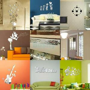 Various Acrylic Plastic Mirror Wall Home Decals Decor Vinyl Modern Art Sticker