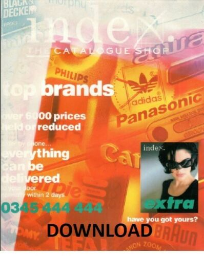 1998 Index Mail Order Catalogue Spring//Summer PDF DOWNLOAD Vintage