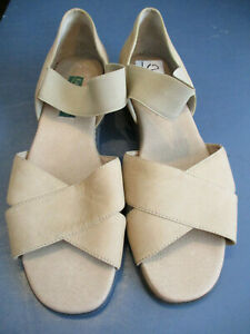EUC-EASY-SPIRIT-SUEDE-STRAPPY-FLATS-SANDALS-TAN-SIZE-10M