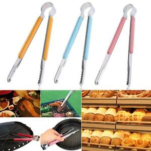 Stainless-Cooking-Kitchen-Tongs-Food-BBQ-Salad-Bacon-Steak-Bread-Clip-Clamp-Clip