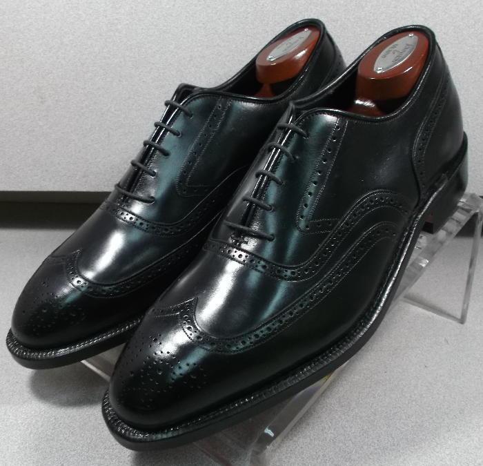 244931 ESCR 50 Chaussures Hommes 10 E en cuir noir couronne made in USA Johnston Murphy