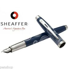 Sheaffer 100 Pattern Gift Collection Fountain Pen Gloss BLUE FINE Nib New