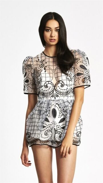 833b098bb8 BNWT ALICE MCCALL 4 - 6 space is only noise playsuit in black and white