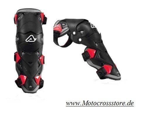 ACERBIS Evo 3 GINOCCHIERA GINOCCHIERE Nero Rosso MX Enduro Motocross OFFERTA!