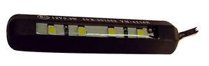 Eclairage-de-plaque-4-leds-MOTO-QUAD-SCOOTER-custom-Adhesif-souple-Homologue