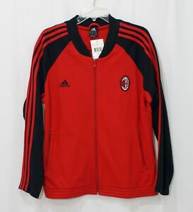 Adidas Ac Milan Track Jacket Red Black Sz Xl New Ebay