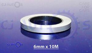 SINGLE-SILVER-STYLING-STRIPE-6mmx10m-COACH-LINE-TAPE-PIN-STRIPE-CAR-SIDE-STICKER