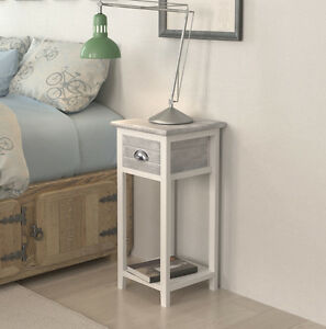 Image Is Loading Small Bedside Table Lamp Phone Stand With Storage