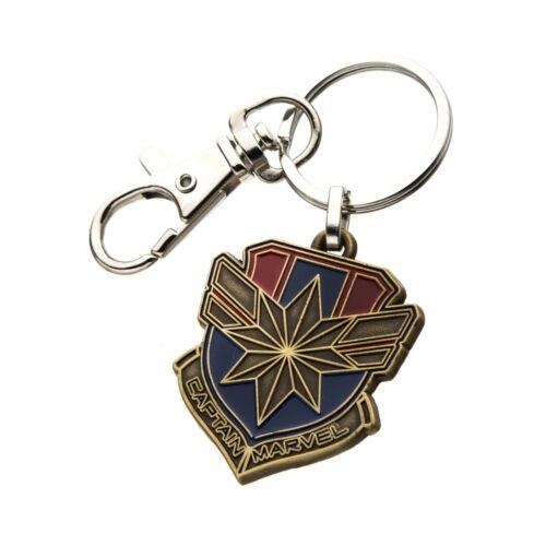 Marvel Captain Marvel Metal Logo Keychain