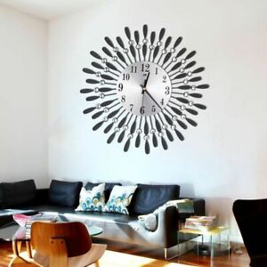 Crystal-Sun-Silent-Clocks-Wall-Watch-For-Living-Room-Office-Home-Decorations-New
