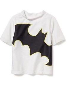 fd59c7fdf2 NWT Old Navy DC Comics Superhero Batman Rashguard Swim Shirt Top NEW ...