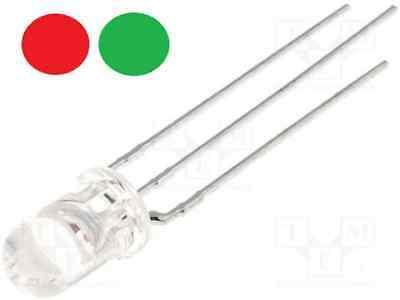 LED 3mm bicolore ROUGE VERT CATHODE transparent Arduino DIY domotique